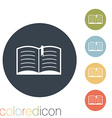 open book Education sign vector image