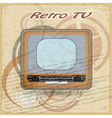 Outdated TV on vintage background vector image vector image