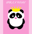 panda bear princess vector image