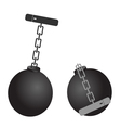 prison ball cartoon vector image vector image