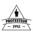 protesteur logo simple black style vector image vector image