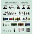 Queuing system elements vector image vector image