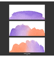 red and purple watercolor banner vector image