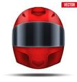 red motor racing helmet with glass visor vector image vector image