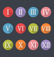 roman numerals icon set vector image