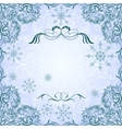 Romantic frosty vintage invitation for winter vector image vector image