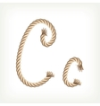 Rope alphabet Letter C vector image vector image
