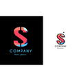 s blue red letter alphabet logo icon design vector image