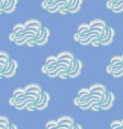 Seamless pattern with hand drawn clouds vector image