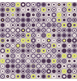 seamless texture of circles and dots vector image vector image