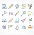 set of color linear school vector image vector image
