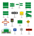 set of green signs vector image vector image