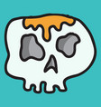 skull in a vintage retro hand drawn woodcut vector image