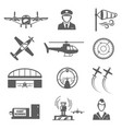 small civil aviation aircraft and sky vector image vector image