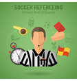 Soccer Refereeing vector image