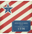 Stars and Stripes in red blue vector image vector image