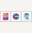 summer graphic tee designs with palm trees vector image vector image