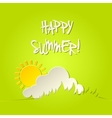 Sunny happy summer bacground card vector image vector image