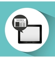 tablet news online icon design vector image vector image