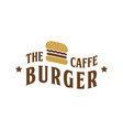 the burger cafe vintage logo design inspiration vector image vector image