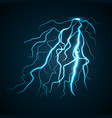 thunderbolt concept background realistic style vector image