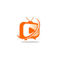 tv station solution logo vector image