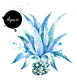 watercolor hand drawn agave plant painted sketch vector image vector image
