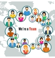 We are the one team vector image vector image