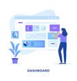 website admin dashboard design concept