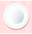 White Paper Plate Isolated on pink Background vector image vector image