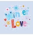 Winter Love 2 vector image vector image