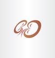 kidneys stylized icon design vector image