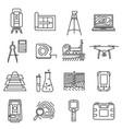 geodetic line art survey vector image