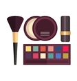 set make up brushes and beauty fashion vector image