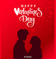 couple red valentines day vector image