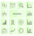 14 progress icons vector image vector image