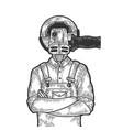 angle grinder head worker sketch engraving