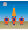 Astronauts and the rocket vector image vector image