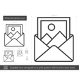 Attached photo line icon vector image