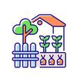 backyard garden rgb color icon