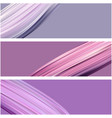 banner with lilac paint brush strokes vector image vector image