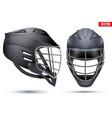 Black Lacrosse Helmet set vector image vector image