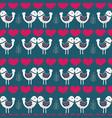 blue scandinavian love birds pattern design vector image vector image