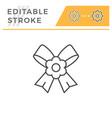 boutonniere editable stroke line icon vector image vector image