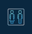 boy and girl wc concept colored outline vector image
