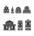 buliding west icon vector image
