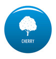cherry icon blue vector image vector image