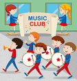 Children in the band marching vector image vector image