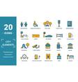 City elements icon set include creative elements