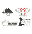 delivery logo templates set for post mail food vector image vector image